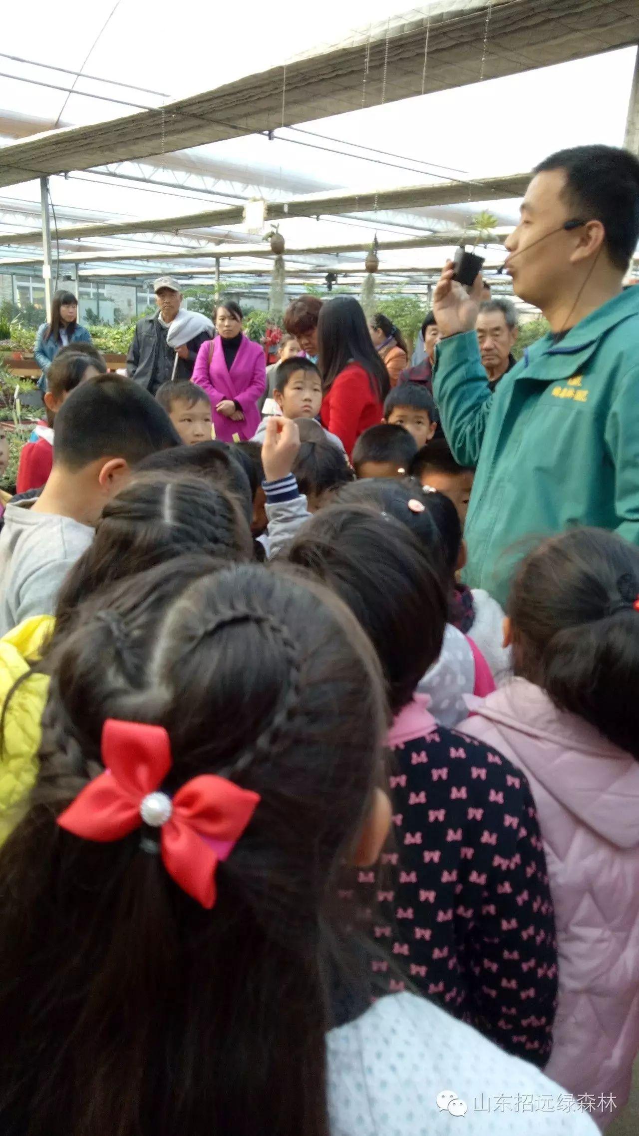 欢迎泉山小学的师生及家长们到绿森林园艺参加种植活动 鼓掌