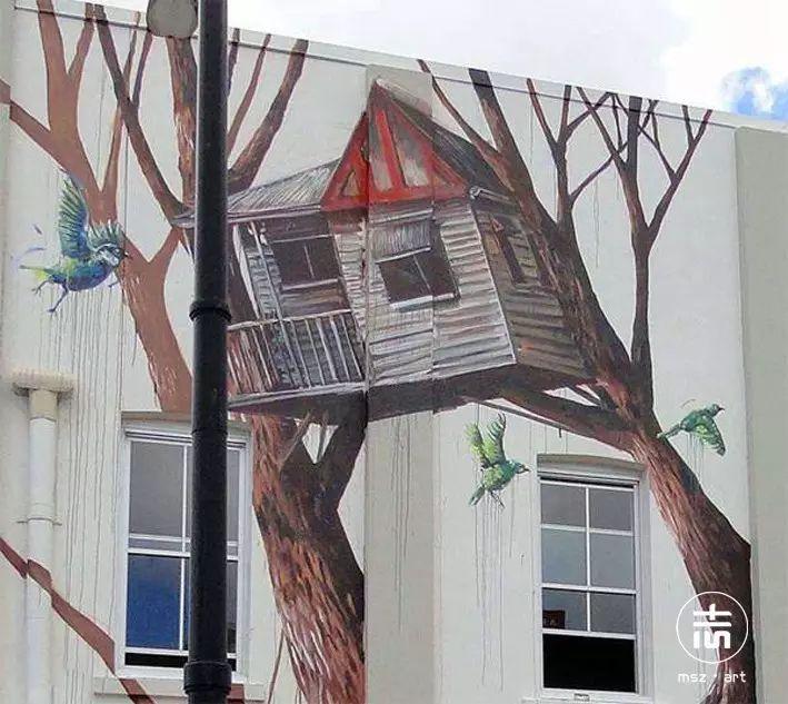 以墙面为画布,惊艳街头的涂鸦图片