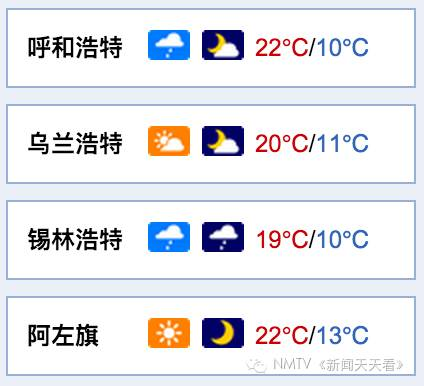 未来四天呼和浩特天气预报-【11-12日· 天气预报】