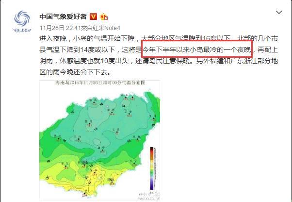 播报一条重要的天气预报 海南今日最低温13 台风 蝎虎 最新动态是