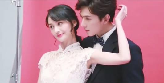 杨洋 郑爽唯美婚纱写真一脸的幸福,网友 在一起