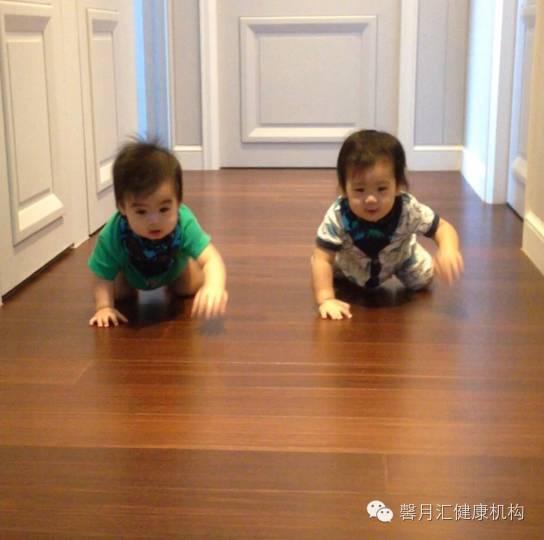 林志颖双胞胎儿子萌化 宝宝会爬后怎照顾 育儿馨经